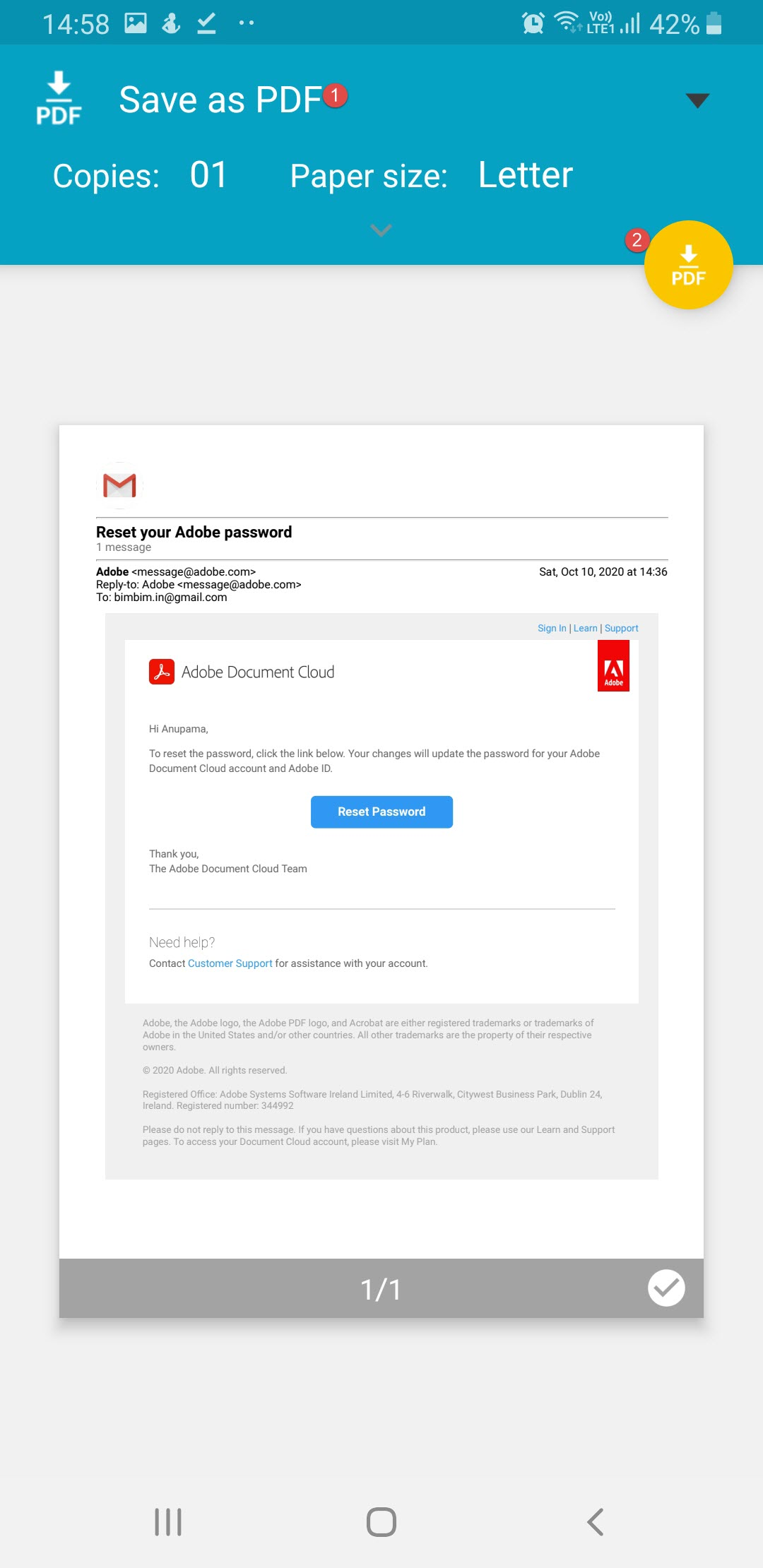 Save Gmail pdf