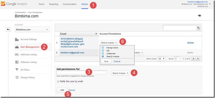 google-service-account-analytics